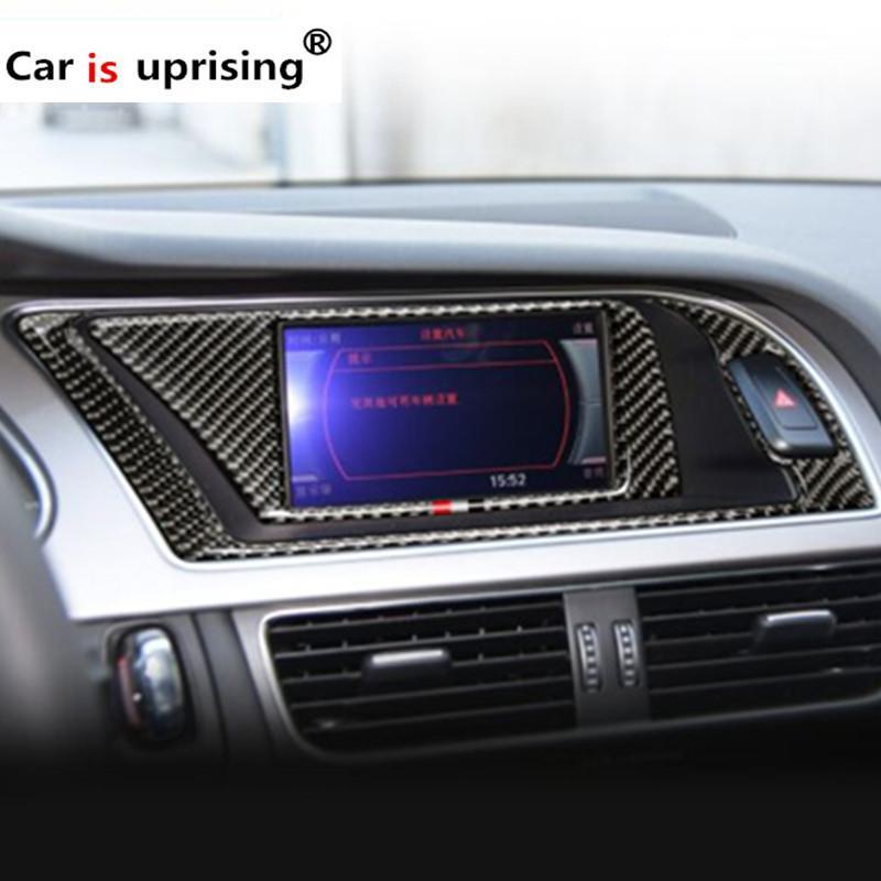 2019 For Audi A4 2009 2016 Carbon Fiber Car Interior Navigation