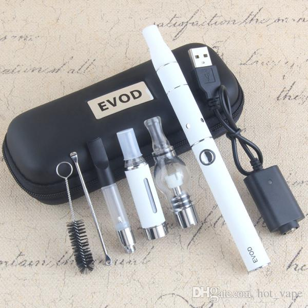 4 In 1 Starter Kits Wax Atomizer Dry Herb Vaporizer Dry Herb Thick Oil Atomizer MT3 With Ego Thread Vape Pen