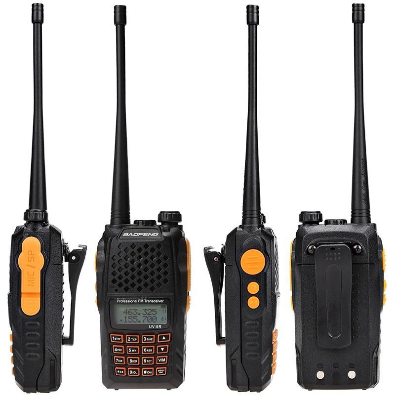 Good Quality BaoFeng UV-6R 7W Power UV 136-174/400-520Mhz Walkie Talkie/Two  Way Radio Professional Dual Band Portable Ham Radio