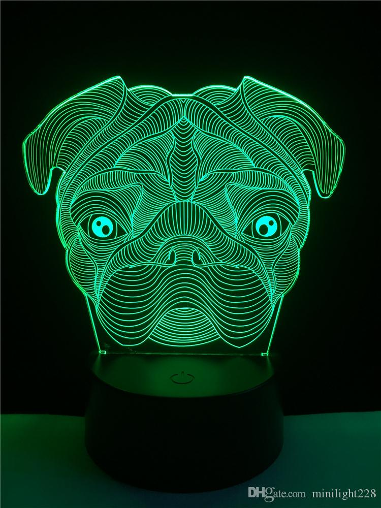 Great 2018 3d Led Night Light Dog With Light For Home Decoration Lamp Amazing  Visualization Optical Illusion Awesome From Minilight228, $13.87 |  Dhgate.Com