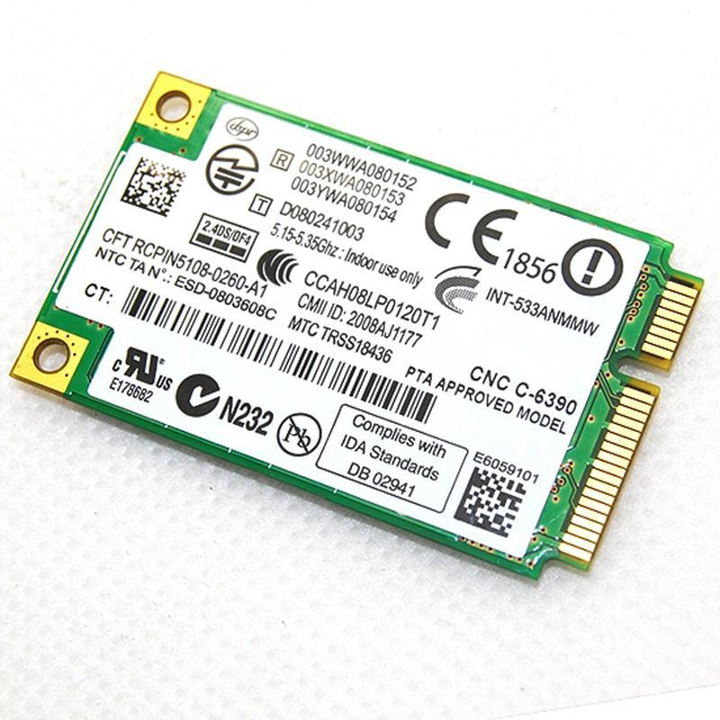 Dual band Network Adapter Intel Wifi 5300 533AN_MMW 2.4Ghz 5Ghz 300M/450Mbps Wireless 802.11 a/g/n Mini PCI-E Wlan Card