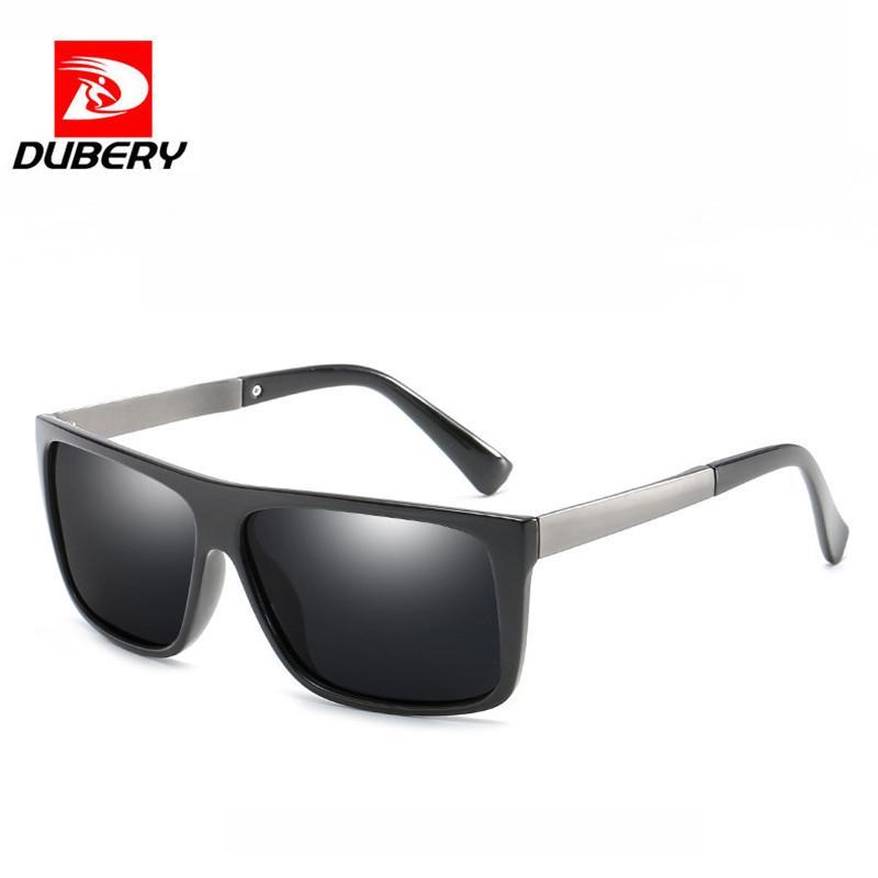 30c300f1e Compre DUBERY Polarized Óculos De Sol Dos Homens Óculos Shades Óculos De Sol  Masculino Quadrado Quadro De Pesca Condução Óculos Espelho TAC Sonnenbrille  De ...