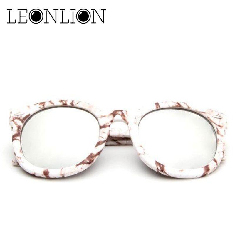 Compre Leonlion 2018 Gafas De Sol De Marco Redondo Plástico Mujeres ...
