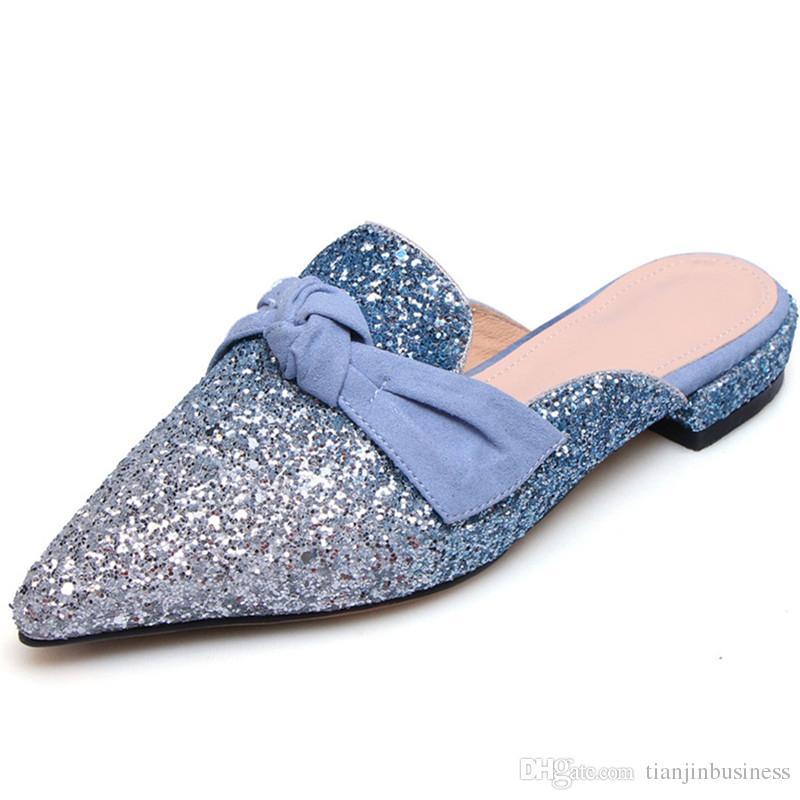 Scarpe 49 Colori Donna Di Misti Punta Estate Moda Nuova Muli Dal A Alta Donna Scarpe A Pantofole Da Sposa Pantofole Qualità Acquista 25 Sandali 2018 BqwPnUZ