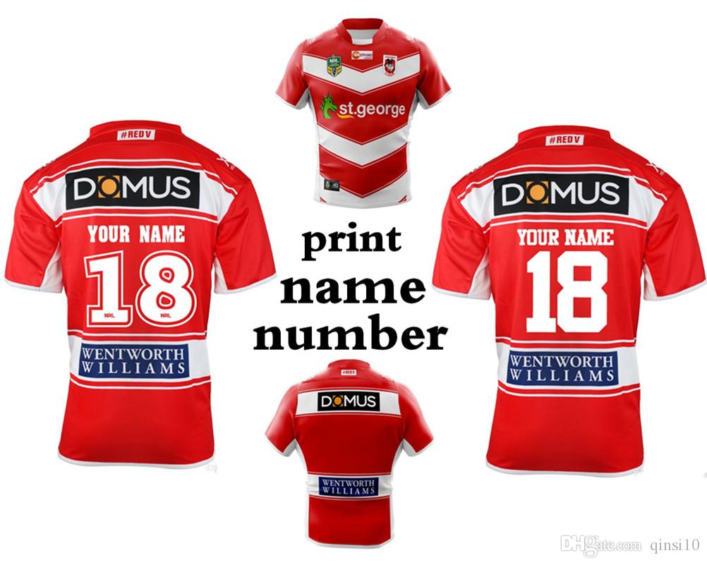 a8f3f5e17f2 2019 ST GEORGE DRAGONS 2018 HOME JERSEY 2017 NRL National Rugby League St  George Illawarra Dragons Mens Home Jersey New Zealand Rugby Can Print From  Qinsi10 ...