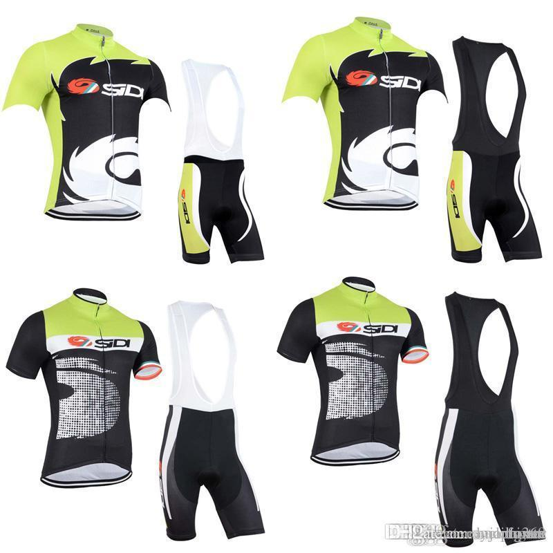 SIDI TOPSPORT Team Cycling Short Sleeves Jersey Bib Shorts Sets Thin ... c4ba95ddf