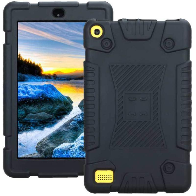 brand new ab26a 63f1a Silicone Case For Kindle Fire 7 Inch Kindle HD 8 Inch Shockproof Anti Skid  Soft Tablet Pc Case Kindle Cover 25