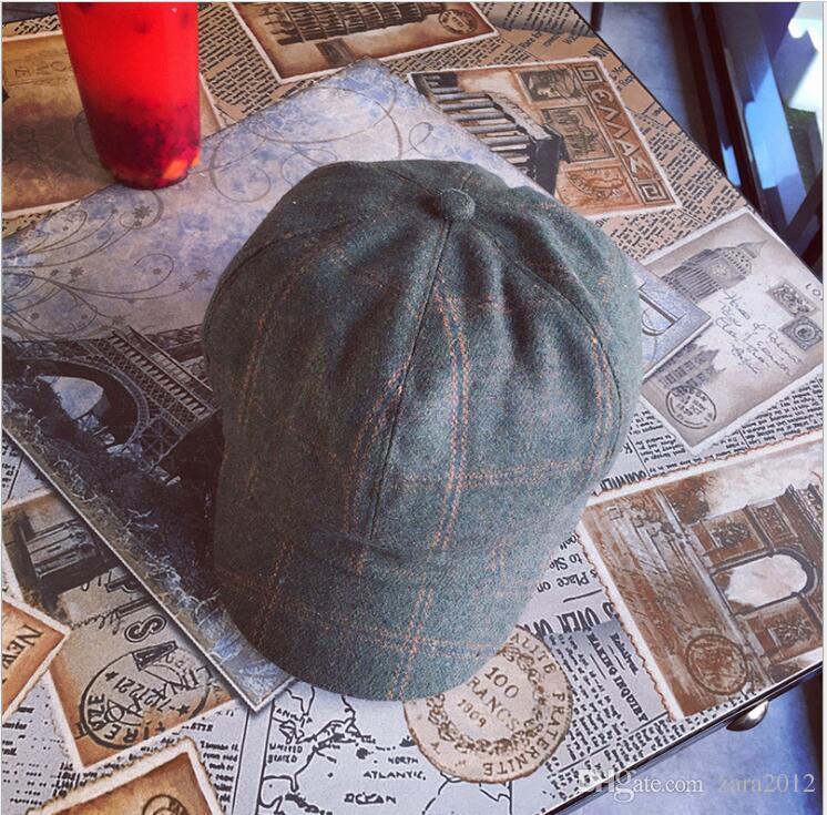 8d8c6fe06bcd3 New England Vintage Cap Plaid Wool Octagonal Hat Lady Autumn Winter Fashion  Cap Beret. Hat Cap Woman Hat Online with  15.31 Piece on Zara2012 s Store  ...