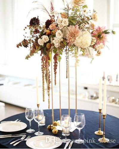 2018 New Style Tall Wedding Metal Gold Flower Vase Column Stand For