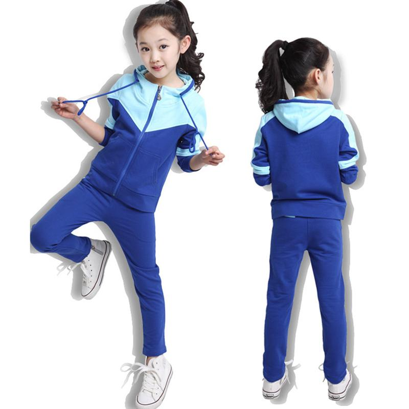 74c2233e6c6 2019 Kids Tracksuits Children Sportswear Black Blue Sports Sets Tracksuit  Hooded Sport Wear For Student Dance Gym Running Clothes From Miaoshakuai,  ...