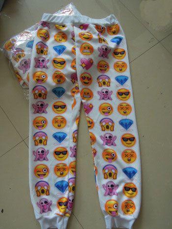 Vendita calda Moda 3D EMOJI Stampa Unisex Divertente Sudore Sport Pant Jogger Pantaloni sportivi donna pantaloni casual di alta qualità