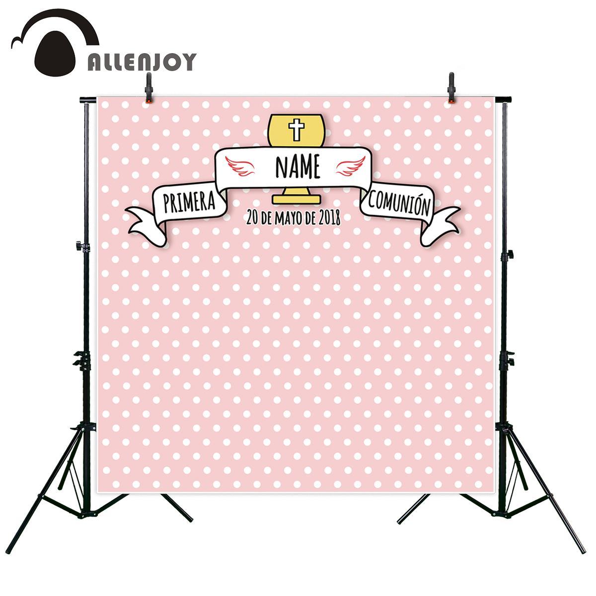 Großhandel Allenjoy Fotografischen Hintergrund Rahmen Design Taufe ...