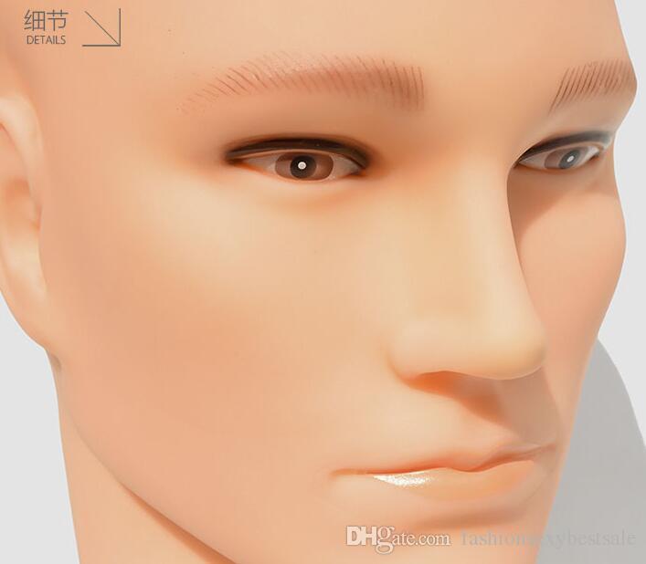 venta al por mayor modelo de Cabeza simulada soporte de la cabeza falsa sombrero Bufanda maniquí simulación personas usan accesorios de la peluca modelos falsos hombres C516