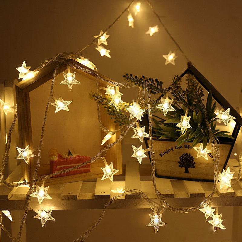 Led Lichterkette Weihnachten.Chasanwan Christbaumschmuck Stern Led Lichterkette Weihnachten Neujahr Navidad 2018 Weihnachtsschmuck Für Home Noel Q Y18102909