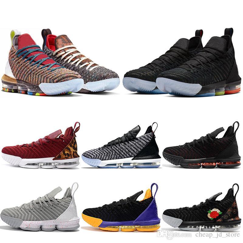 superior quality 7bec2 b7b68 Acquista Nike Lebron 16 Scarpe Da Basket Da Uomo 16 16s Promise King 1 Thru  5 Oreo Fresh Bred Lakers WHAT THE Trainer Uomo Sport Sneakers 7 12 A 97.92  Dal ...