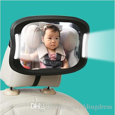 Baby Car Mirror For Rear View Facing Back Seat Infant Toddler Child In 360 Adjustable Double Straps Safety Exterior Auto Body Parts