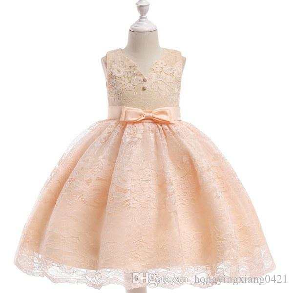 2cc38b30f Lace Grace Formal Tulle Girls Dress Sleeveless Evening Gown With ...