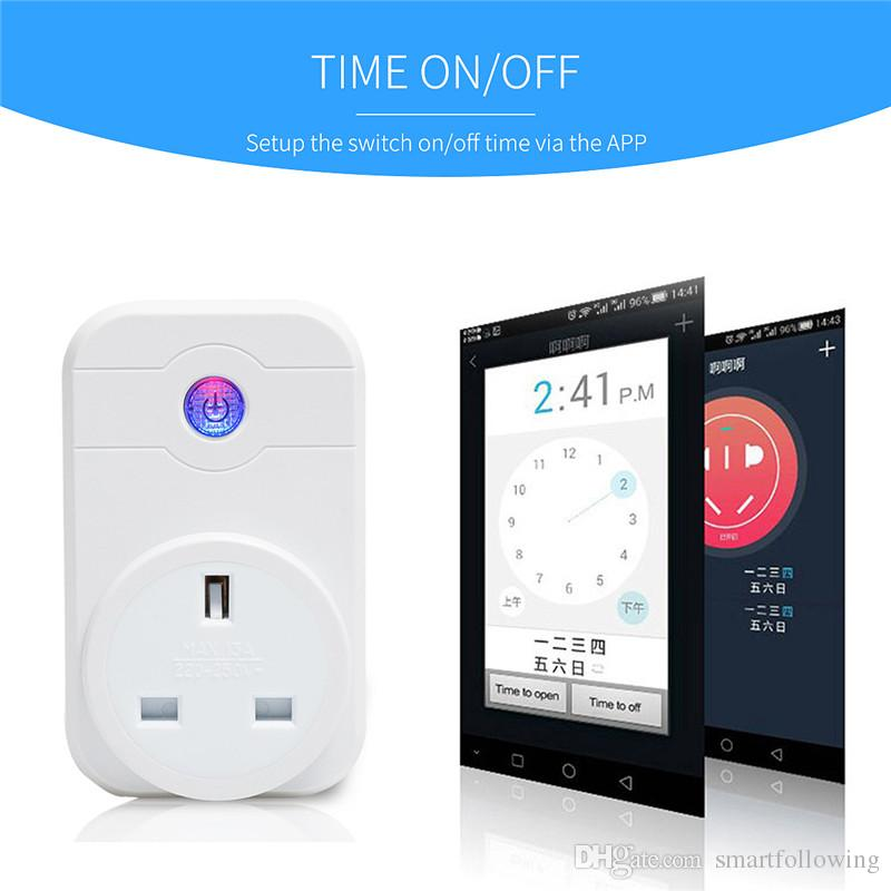 Smart Wifi Plug Outlet Adapter US EU UK Plug socket APP Remote Control Mini  Socket Intelligent Device Compatible with Alexa Echo