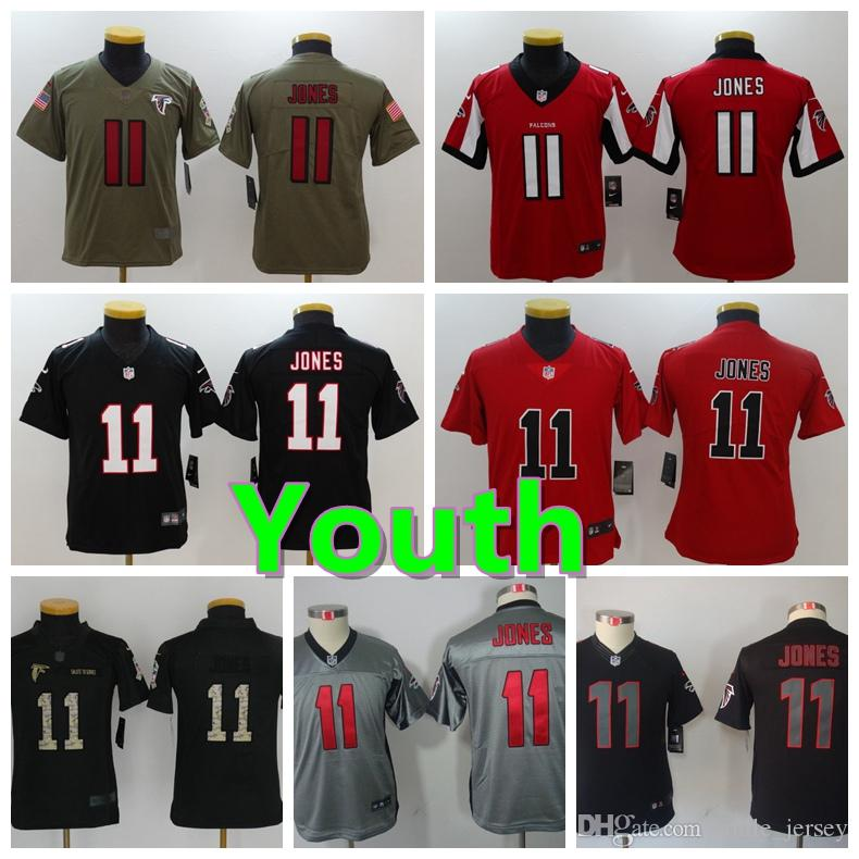 2018 New Youth 11 Julio Jones Atlanta Jersey Falcons Football Jersey 100%  Stitched Embroidery Julio Jones Kids Color Rush Football Boys Jersey From  ... 8ce13fcb5