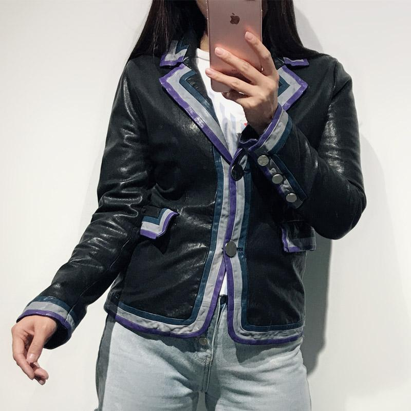 buy online 1687f bb110 Damen Echtleder Blazer Frauen echte Lederjacke