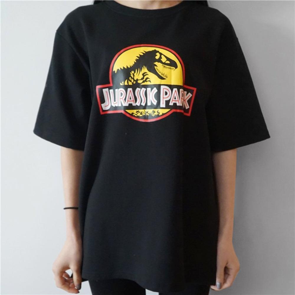 Acheter Femmes Funny Tshirts Motif Dinosaure Lettre Imprimer Coton À  Manches Courtes T Shirt Femme Tops Casual Type Lâche Top Chemises De  39.62  Du Bevarly ... fbd47a4ec3c