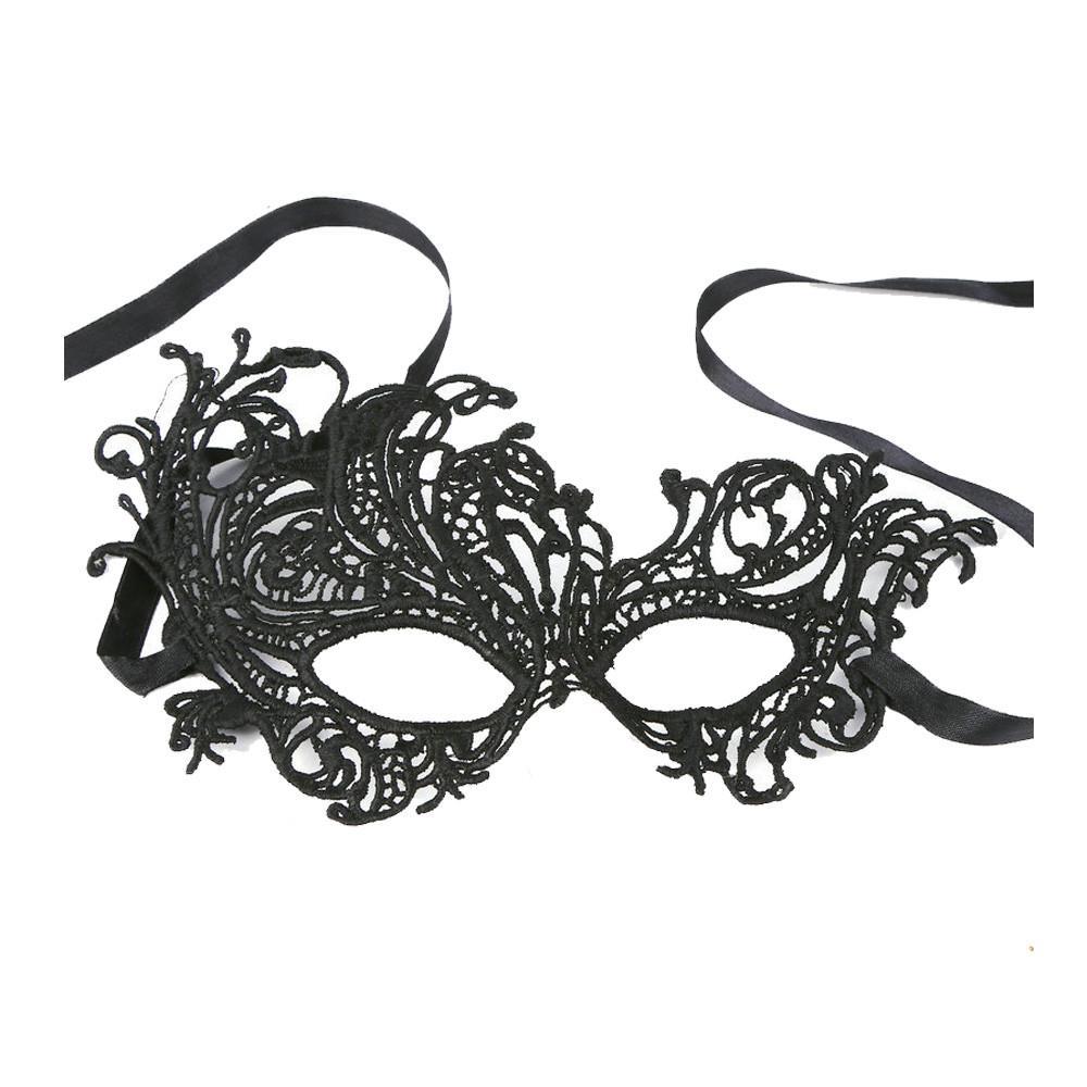 Halloween Sexy Elegante Occhio Maschera Masquerade Ball Carnevale Fancy Party Nero Costumi veneziani Maschera di carnevale Mardi