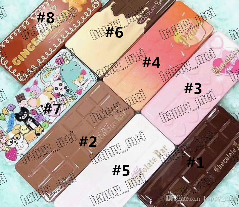 Free Shipping DHL Chocolate Bar/Sweet Bon Bons/Semisweet/White/Gold/Best Friend/Sweet Peach/Gingerbread Eyeshadow Palette!8 Different Colors