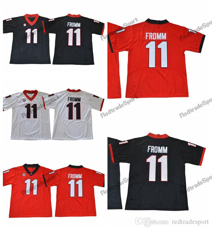 48981b6a9 2019 2019 Cheap Georgia Bulldogs Jake Fromm College Football Jerseys Black  Red #11 Jake Fromm Stitched Football Shirts Best Quality From Redtradesport,  ...