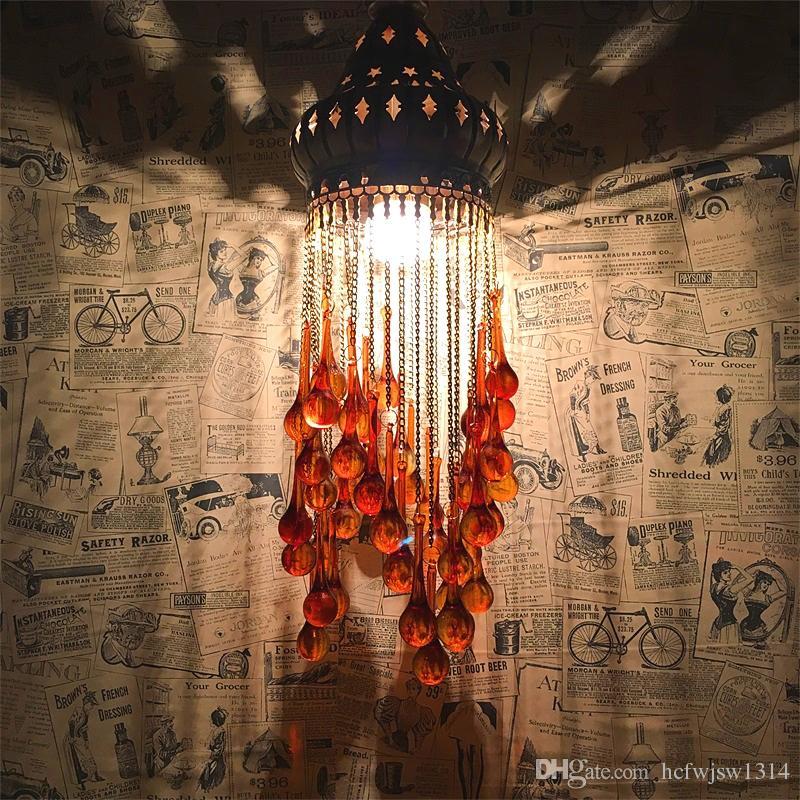 Böhmen hängen tropfen lampe retro exotischen ethnischen stil wohnzimmer schlafzimmer restaurant cafe hotel türkischen kronleuchter