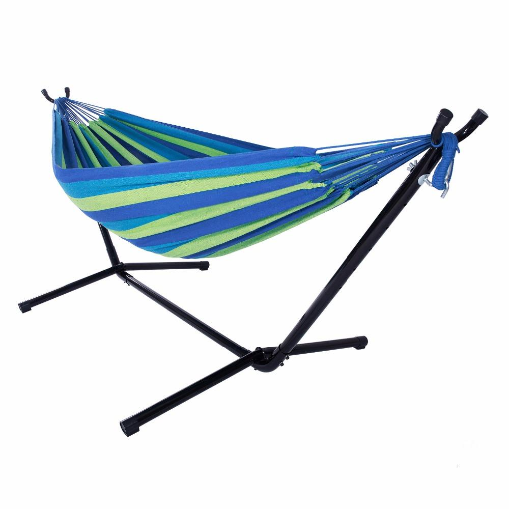Amazing 2019 Outdoor Portable Hammock Set With Stand Polyester HOT SALE From Baolv,  $123.68 | DHgate.Com