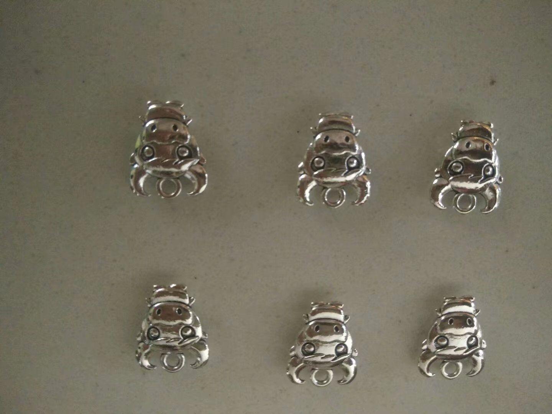 Großhandel Tiere Owl Charm Tibet Silber Perlen Anhänger Für Armband