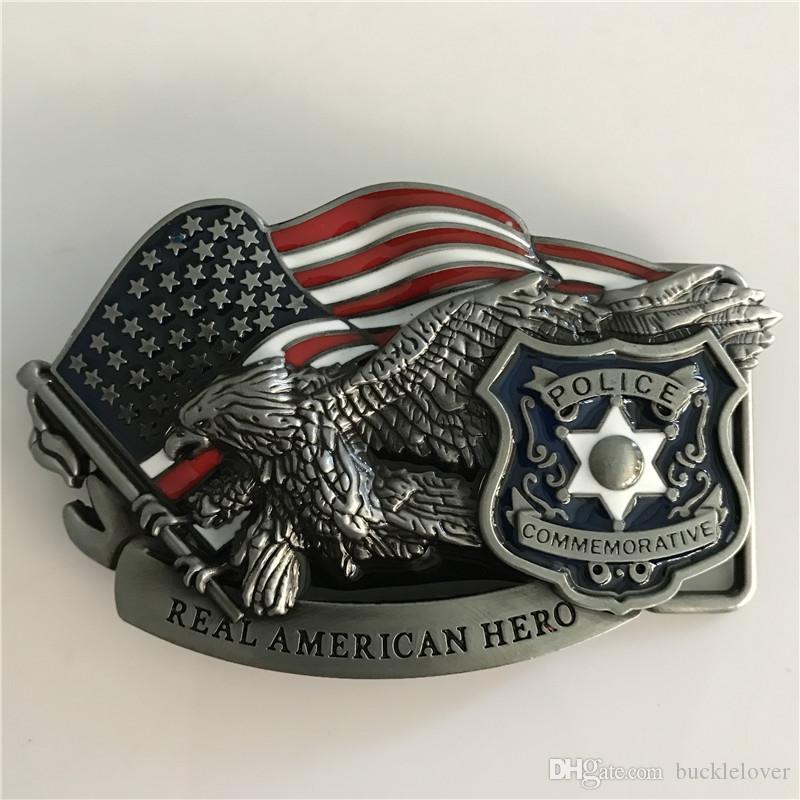 Acheter Real American Hero Police Marque De Luxe Western Cowboy Métal  Ceinture Boucle Ceinture Fit 4cm Ceintures De  17.26 Du Bucklelover    DHgate.Com f3fbb8af735