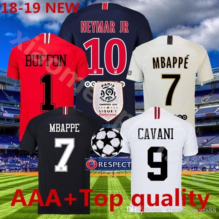 2018 2019 PSG Third Maillot MBAPPE Soccer Jersey CAVANI Top Thailand 18 19 Paris  Football Shirt CHAMPIONS LEAGUE Camiseta De Futbol Kits Paris Soccer Jersey  ... 081e17189