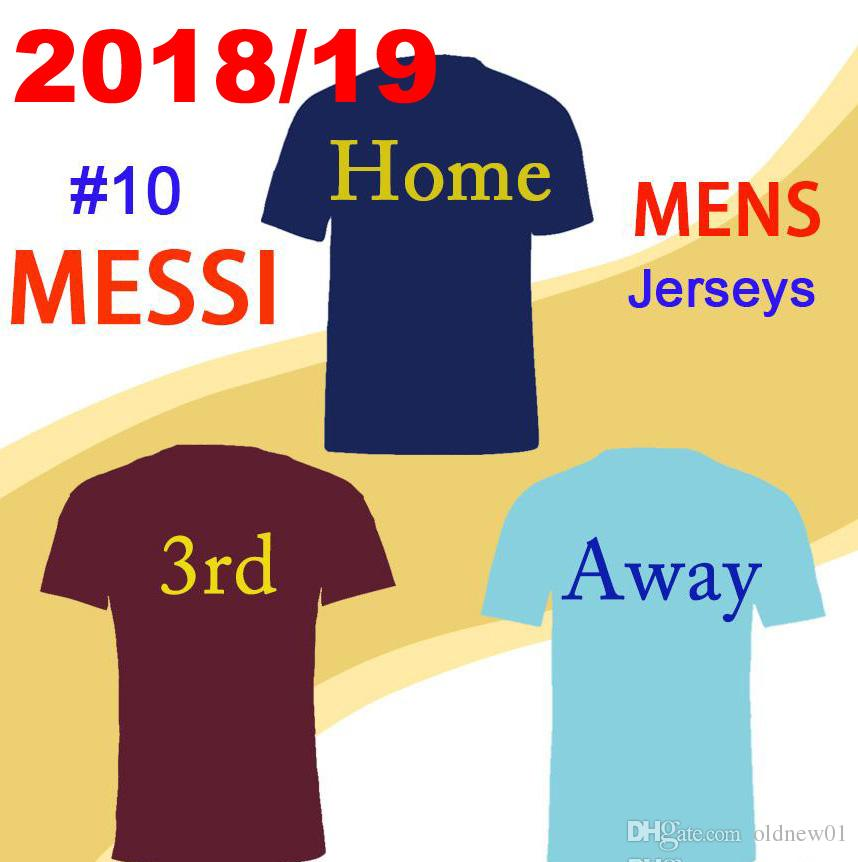 8137352b5d8 2018 19 Top Quality MESSI  10 Soccer Jersey A.INIESTA Suárez DEMBELE ...