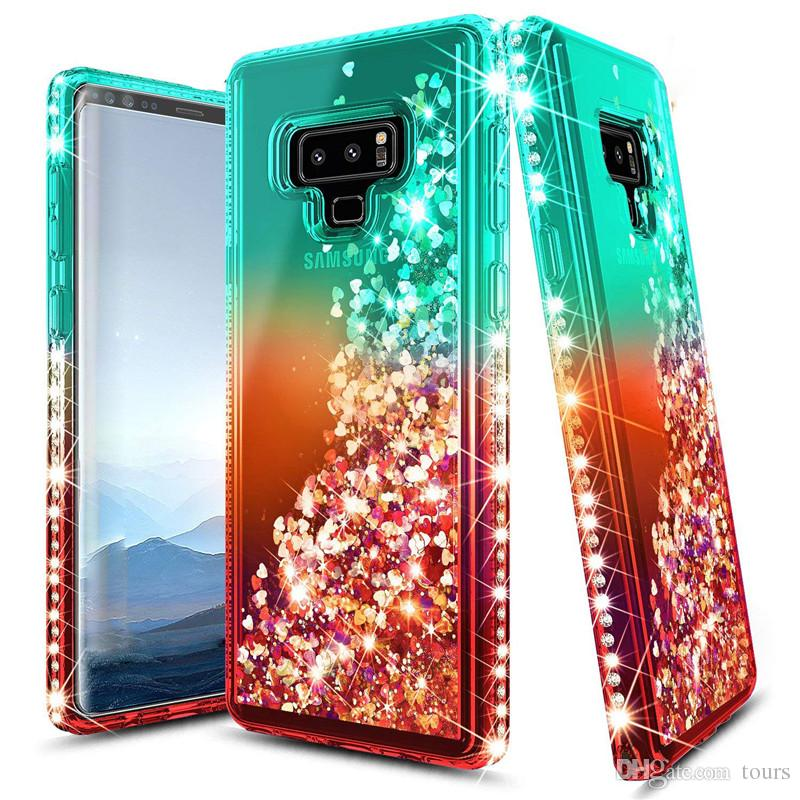 9713f810c30 For Samsung Note 9 Case Luxury Glitter Quicksand Liquid Sparkle Shiny Bling  Diamond Phone Cases For Samsung Galaxy S10 S10 Plus S10 Lite