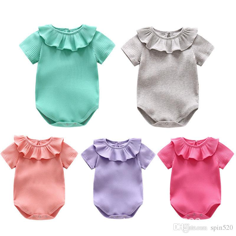 4322a26c47e Wholesale Spring Autumn Baby Girl Knitted Rompers Princess Newborn Baby  Clothes Girls Boys Long Sleeve Jumpsuit Kids Baby Outfits Clothes Baby  Jumpsuit Baby ...