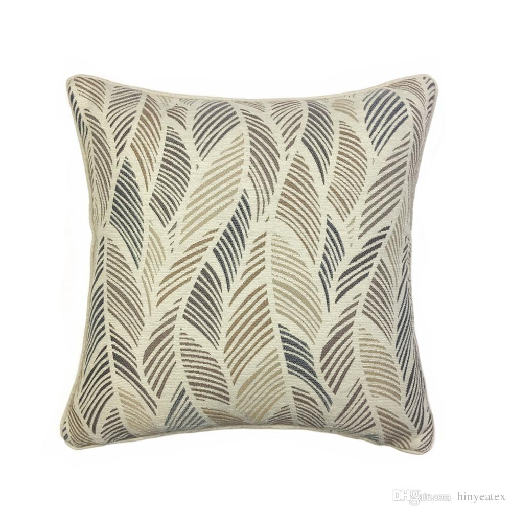 Contemporary Abstract Leaves Cushion Cover Interior Home Decorative ...