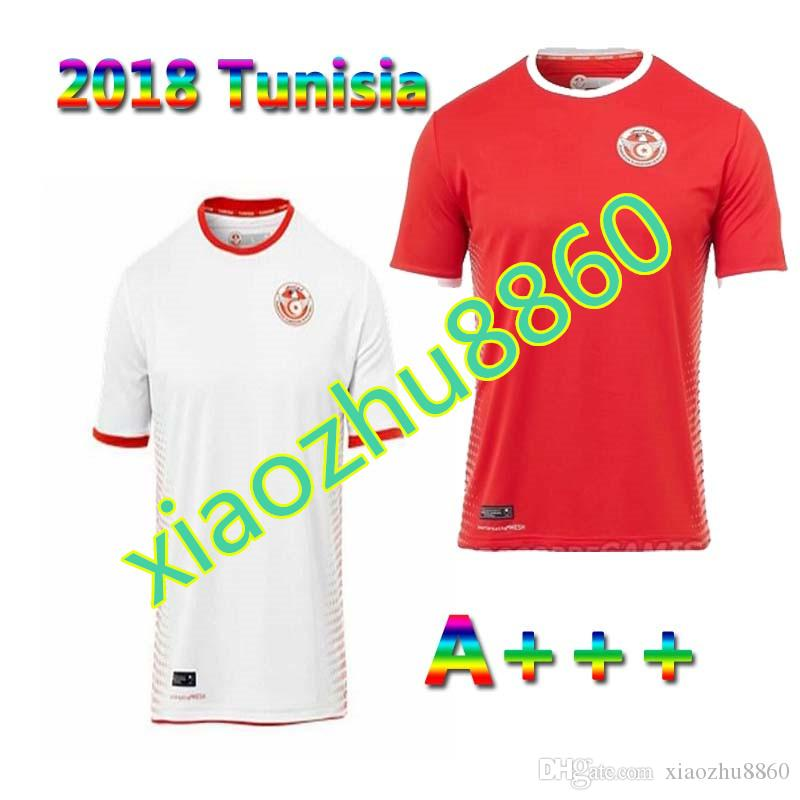 c2b015551 2018 World Cup Tunisia Socce Jerseys 1819 Tunisia National Football ...