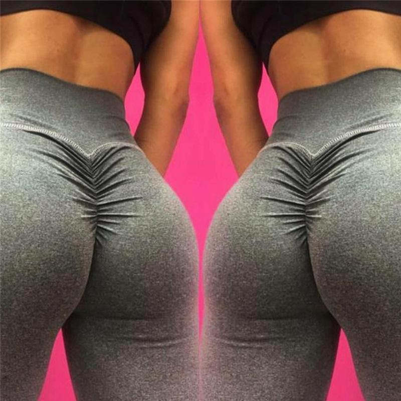 10c77a70a 2019 FRECICI Scrunch Butt Leggings Women Ruched Yoga Pants Push Up Gym  Active Pants Sports Leggings High Waits Workout Yoga From Lookest