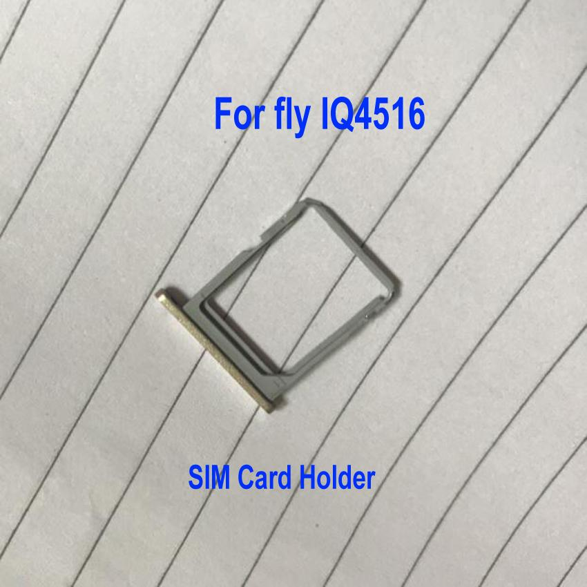 Original Gold SIM Card Tray Slot Holder For FLY IQ4516 / BLU Vivo Air D980L Phone Flex Cable Replacement Parts