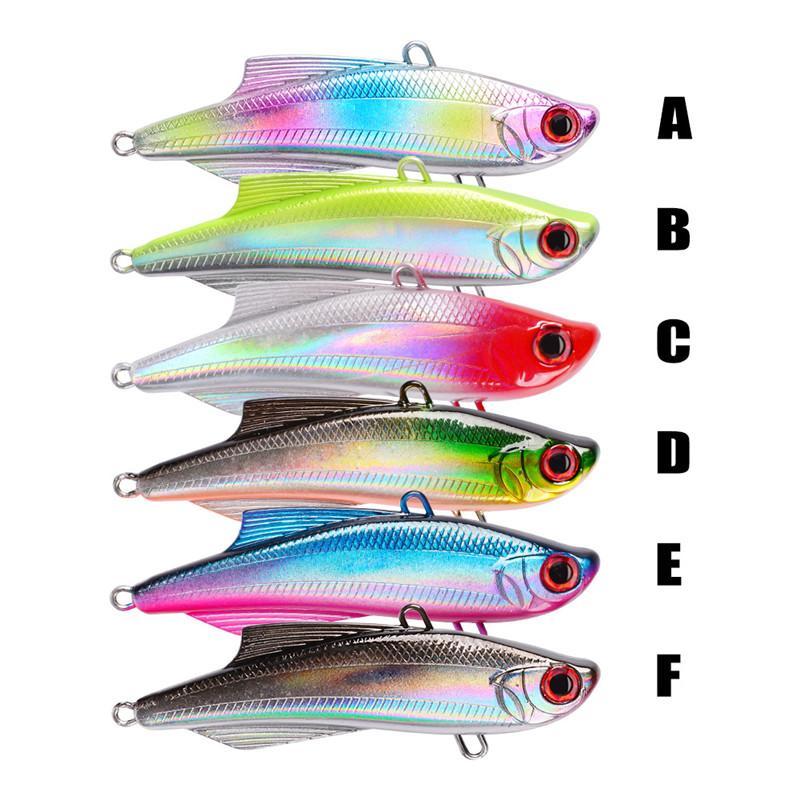 Новый ABS пластик VIB джиги 6# BKB приманки крюк 7.5 см 20.5 г 6 цветов реалистичные рыбы тела нахлыстом воблеры бас приманки