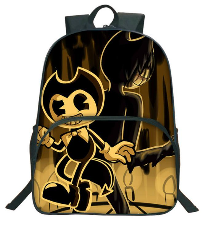 9053f3984b Hot Cartoon Bendy And The Ink Machine Backpack For Students Bendy ...