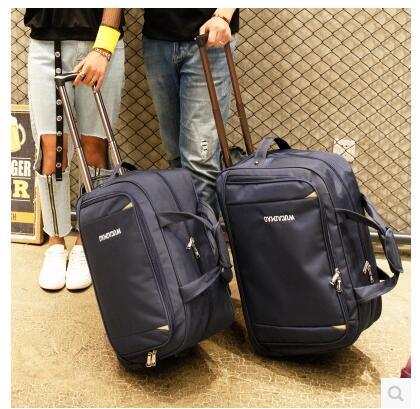 f158b01c386 Men Travel Luggage Bag Women Oxford Suitcase Travel Rolling Bags On Wheels  Rolling Bags Business Trolley Wheeled Mens Shoulder Bags Fashion Bags From  ...