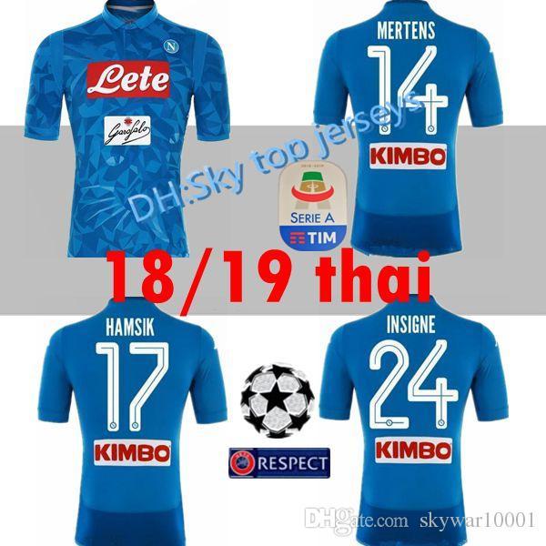 2018 2019 Serie A Nápoles New Napoli Casa Camisetas De Fútbol Napoli Azul  Fútbol Jerseys Camisa Para Hombres 18 19 HAMSIK L.INSIGNE PLAYER Camiseta  Por ... 1e5658f63efe7