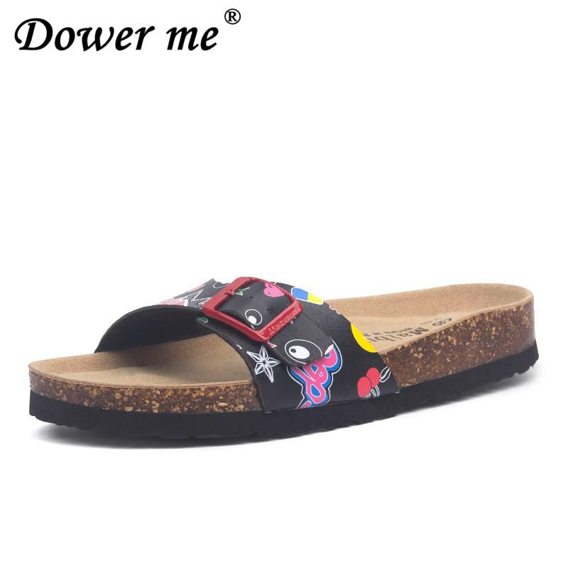 36bb519cb36a Plus Size 35 43 Summer Womens Orthotic Shoes 2019 Fashion Cork Slippers  Good Quality Slip On Casual Slippers Classics Flip Flop Moccasins For Men  Shoe Sale ...