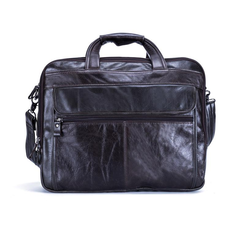 b65c7239e Nesitu Vintage Coffee First Layer Genuine Leather Office Men Briefcase  Portfolio 14     15.6   Laptop Man Messenger Bags M9912 Garment Bags  Leather Purse ...