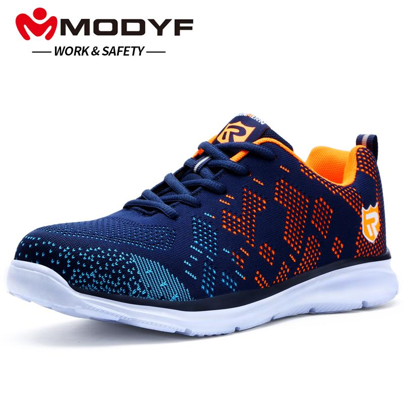 quality design 55364 f0a46 MODYF Men Safety Shoes Steel Toe Work Shoes Ultra Lightweight Breathable  Sneaker Casual Footwear