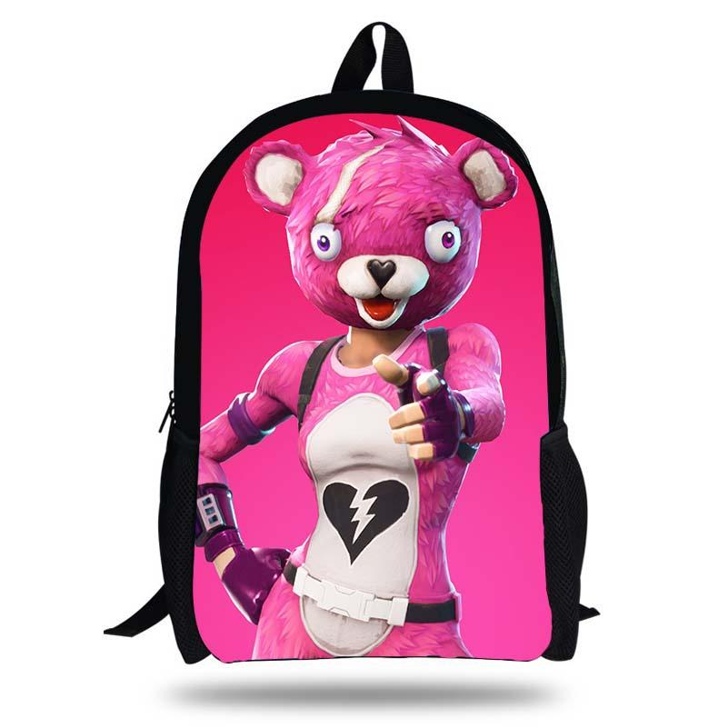 Fortnite Llama Pink Bear Bunny Backpack For Teenage Girls Children School  Bags Women Travel Backpack Laptop Bag Kids Book Bags Man Bags Jute Bags  From ... c822f8964747b