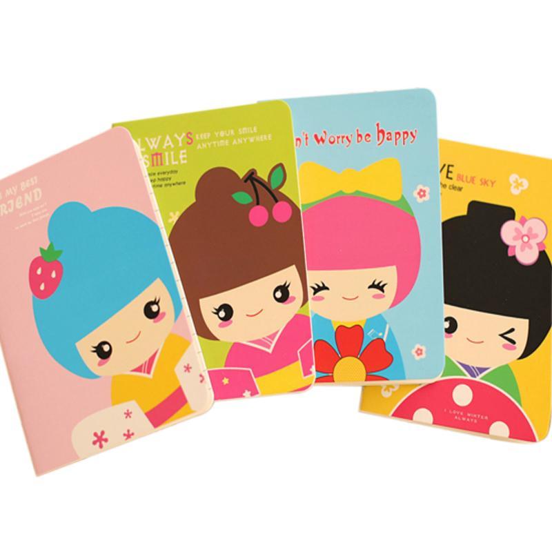 Compre 20 Libros Lote Kawaii Cartoon Gilrl Cuaderno Creativo Mini