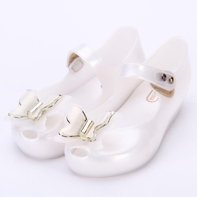 Melissa 3D Butterfly Cute Girls Jelly Sandals 2018 New Melissa ... 48692851d996